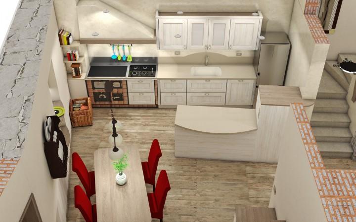 Progetti interni casa progetto in d e foto della casa for Progetti interni case